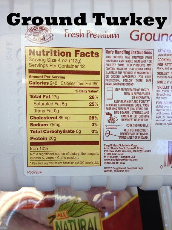 Calories Ground Turkey  How to Read a Nutrition Label Nutrition Coaching