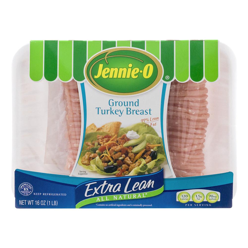 Calories Ground Turkey  Jennie O Lean Ground Turkey 16 oz Tray Walmart