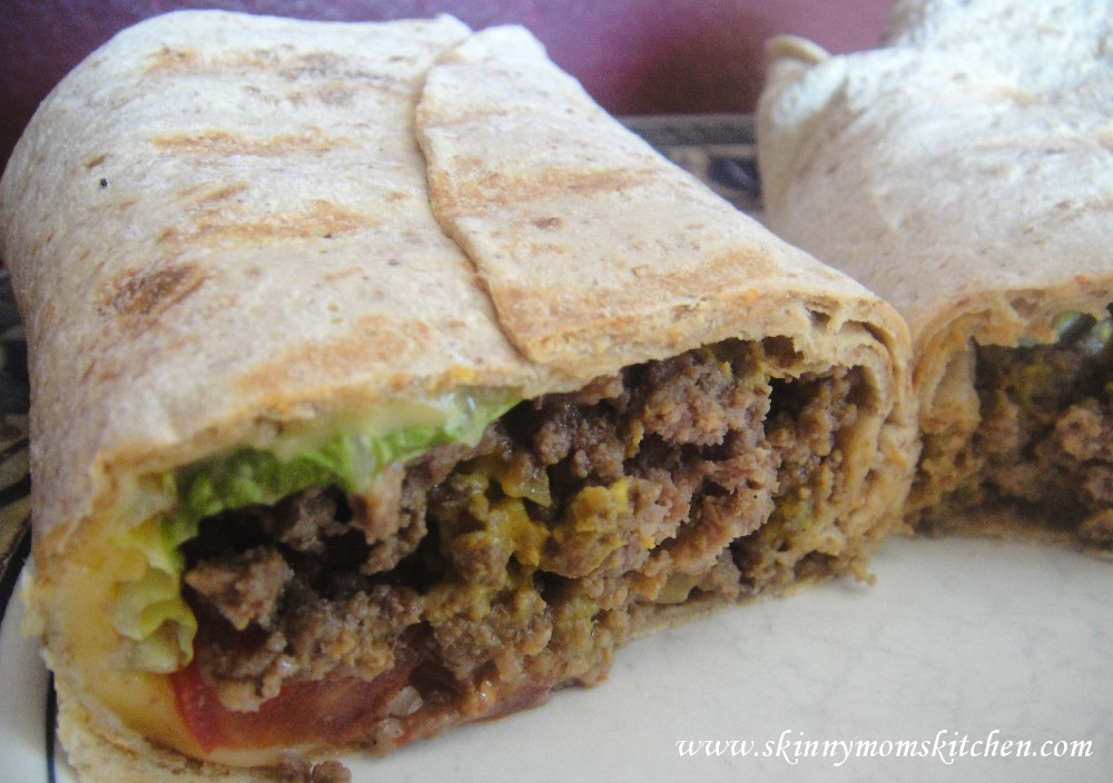 Calories In 1 Lb Ground Beef  Healthy Grilled Cheeseburger Wrap