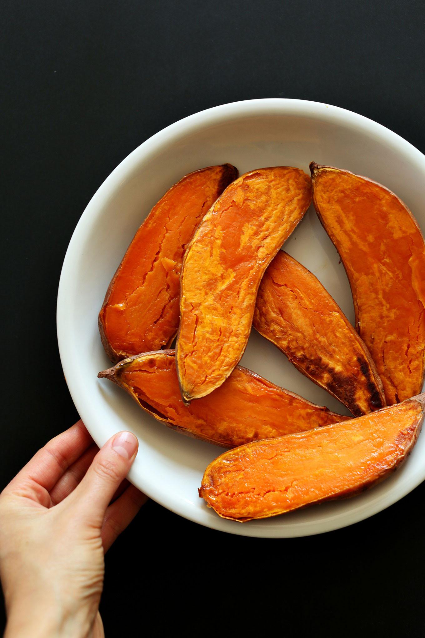 Calories In A Baked Sweet Potato  Mediterranean Baked Sweet Potatoes