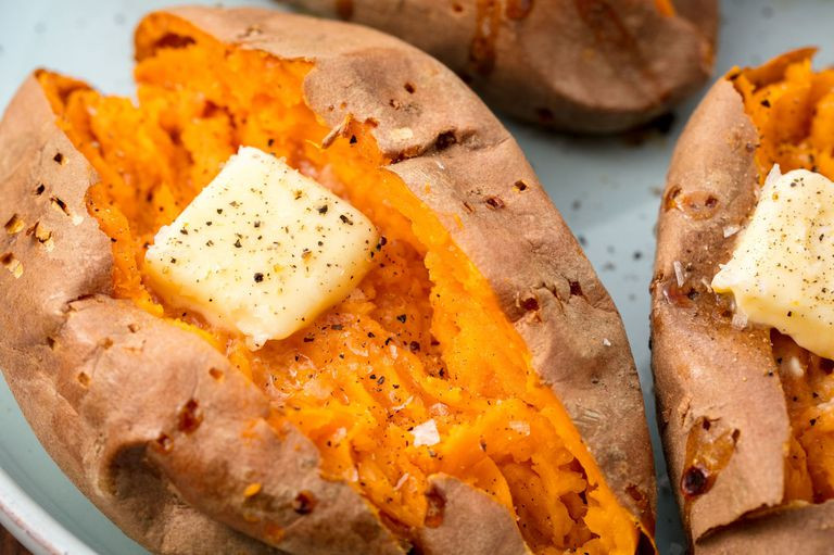 Calories In Baked Sweet Potato  Best Baked Sweet Potato Recipe How to Bake Whole Sweet