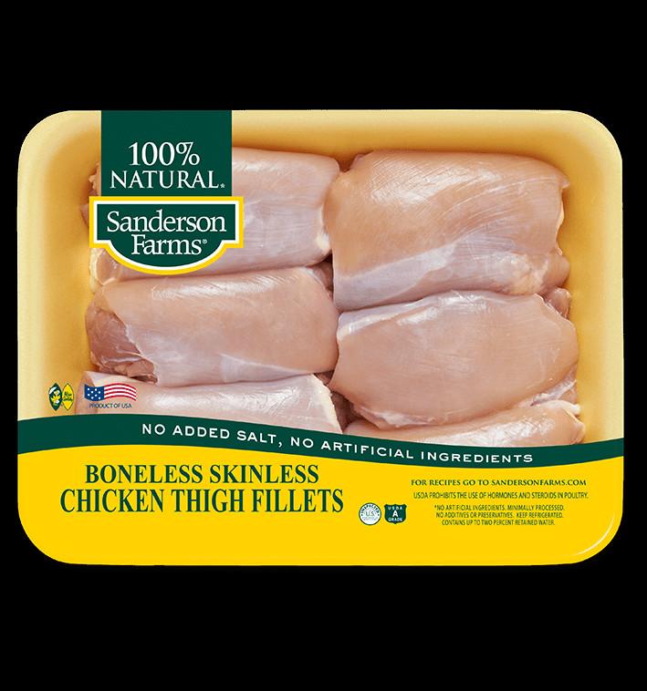 Calories In Chicken Thighs  Boneless Skinless Chicken Thigh Fillets Sanderson Farms