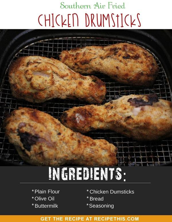 Calories In Fried Chicken Leg  Southern Air Fried Chicken Drumsticks • Recipe This