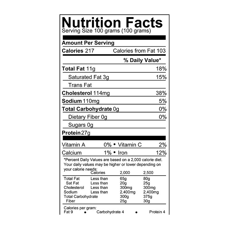 Calories In Fried Chicken Leg  Customer Reviews Nutrition facts chicken drumstick