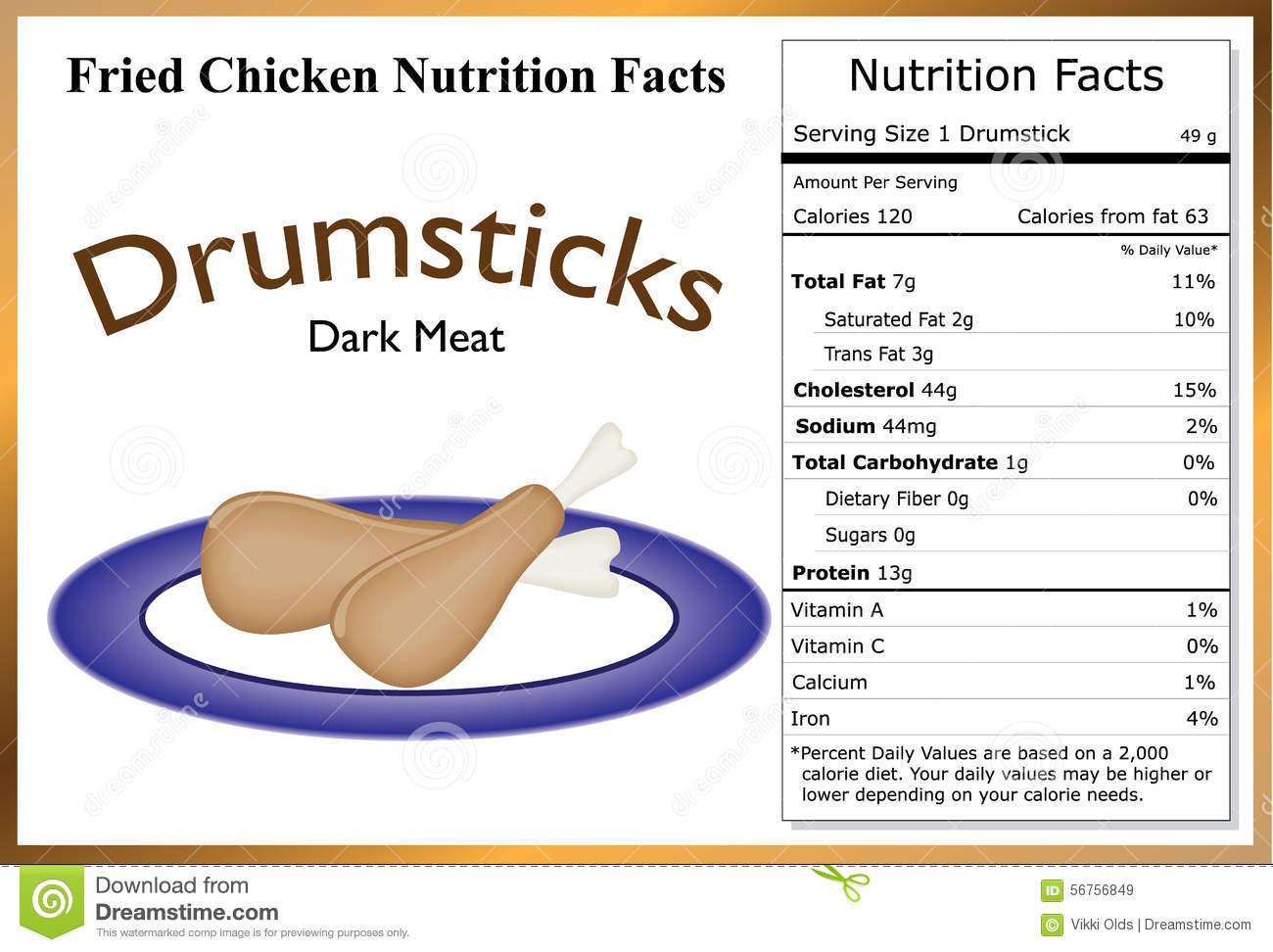 Calories In Fried Chicken Leg  Drumstick Nutritional Info – Besto Blog