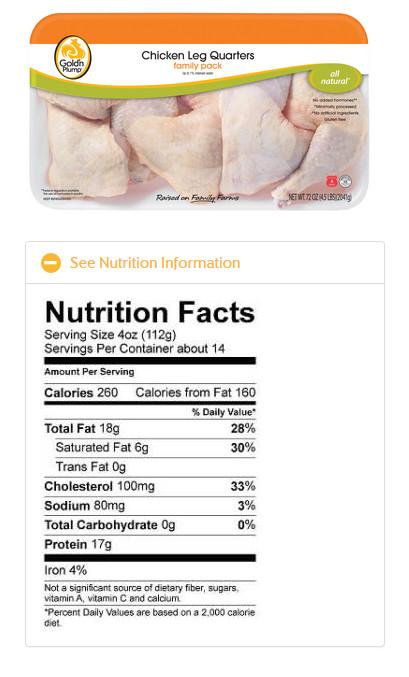 Calories In Fried Chicken Leg  chicken quarters weight