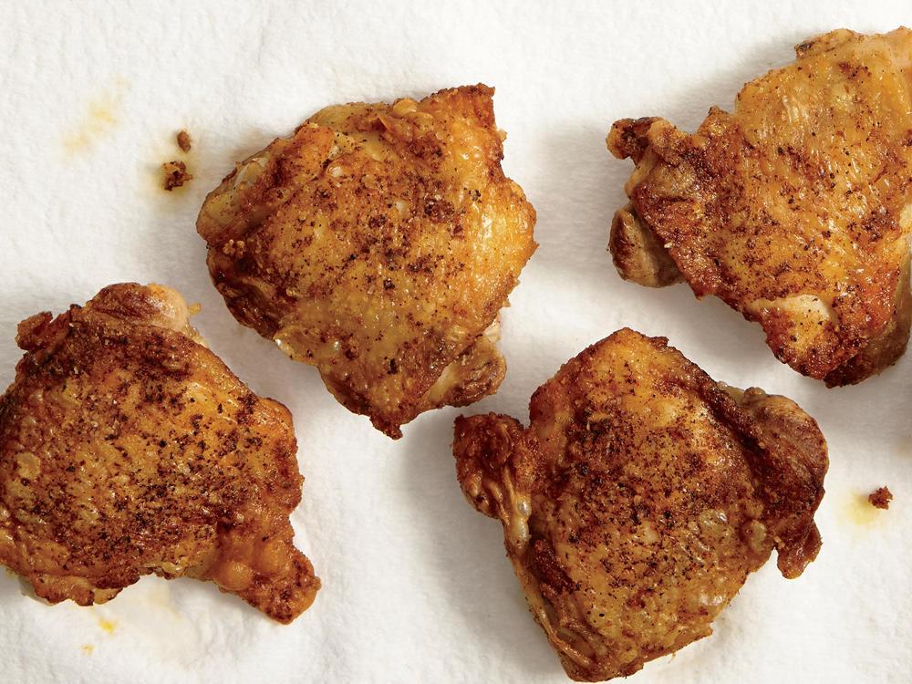 Calories In Fried Chicken Leg  Superfast Crispy Chicken Thighs Recipe