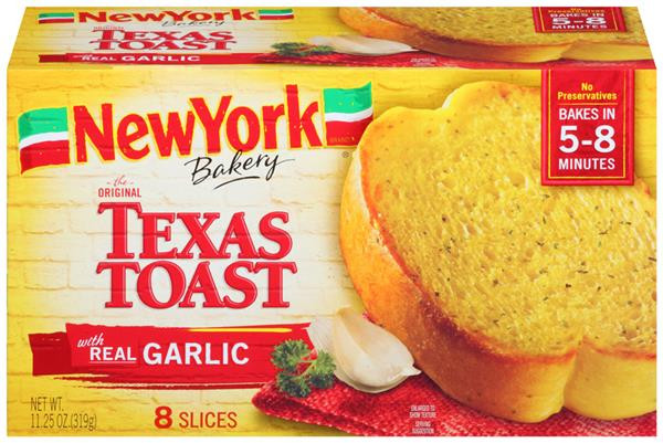 Calories In Garlic Bread  New York Brand Bakery The Original Texas Toast with Real