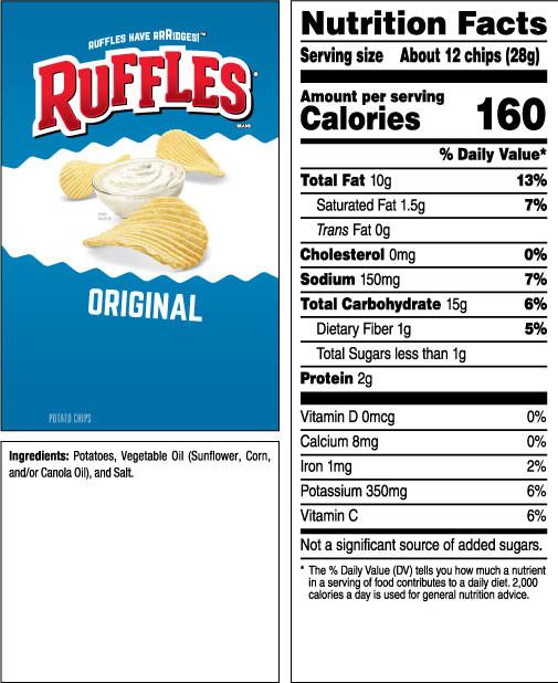 Calories In Potato Chips  RUFFLES Original Potato Chips