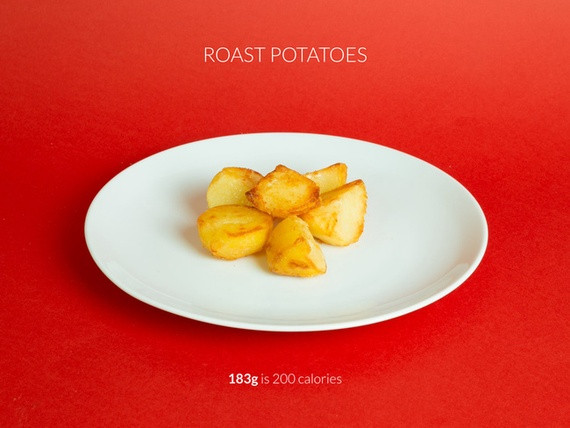 Calories In Roasted Potatoes  What 200 Calories of Every Christmas Food Looks Like The