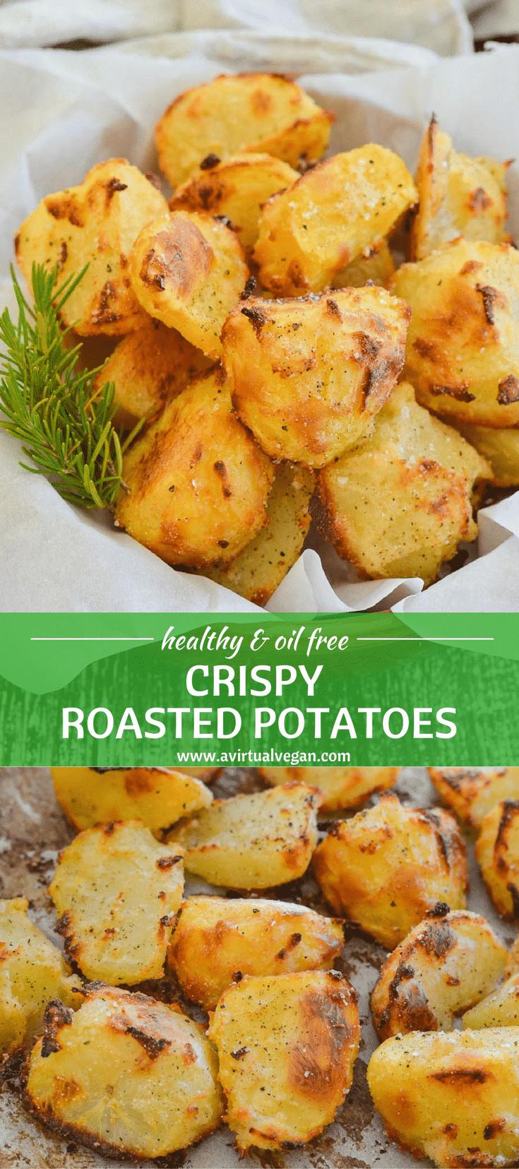 Calories In Roasted Potatoes  Healthy No Oil Crispy Roasted Potatoes A Virtual Vegan