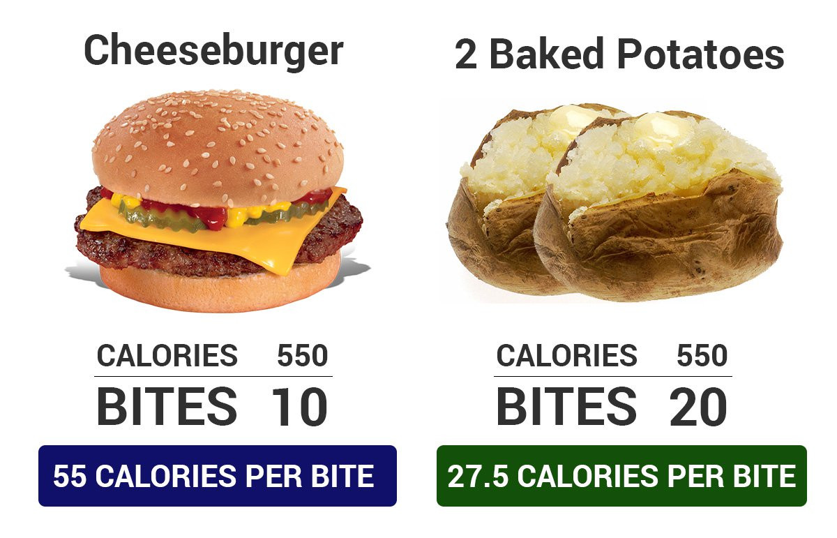 Calories In Small Baked Potato  Calorie Density The 1 Reason Why People Abandon Plant