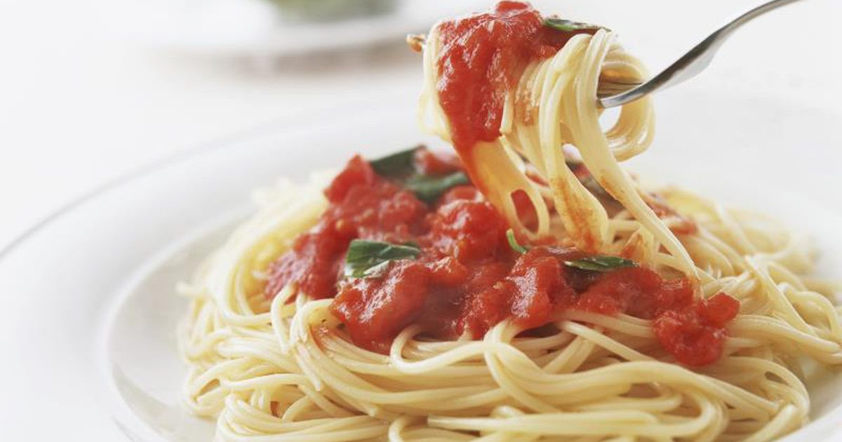 Calories In Spaghetti With Meat Sauce  Calories in Pasta With Marinara Sauce