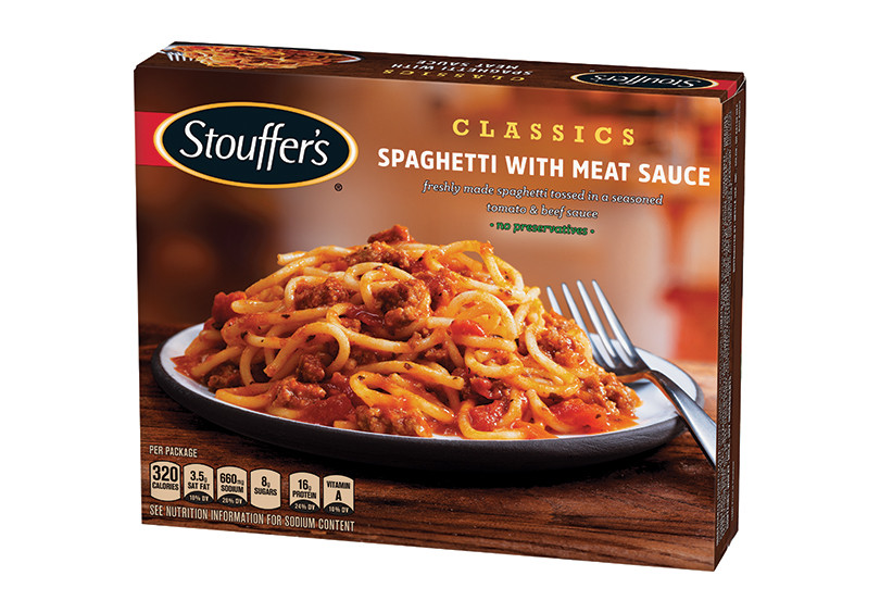 Calories In Spaghetti With Meat Sauce  Spaghetti With Meat Sauce Classics Frozen Meals