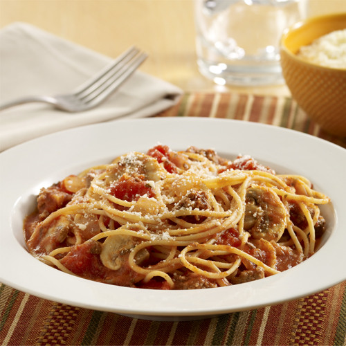 Calories In Spaghetti With Meat Sauce  Spaghetti with Meat Sauce and Mushrooms