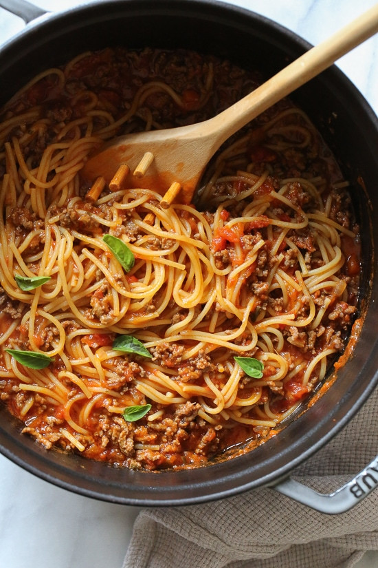 Calories In Spaghetti With Meat Sauce  e Pot Spaghetti and Meat Sauce Stove Top