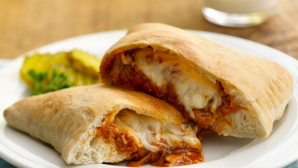 Calzone Recipe With Pizza Dough  Barbecued Chicken Calzones recipe from Pillsbury