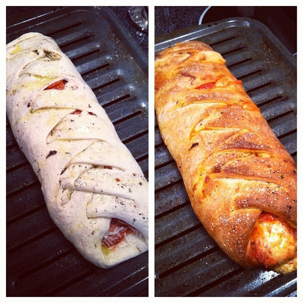 Calzone Recipe With Pizza Dough  pepperoni rolls with pillsbury pizza dough