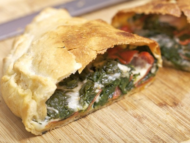 Calzone Recipe With Pizza Dough  Spinach Provolone and Pepperoni Calzone Recipe