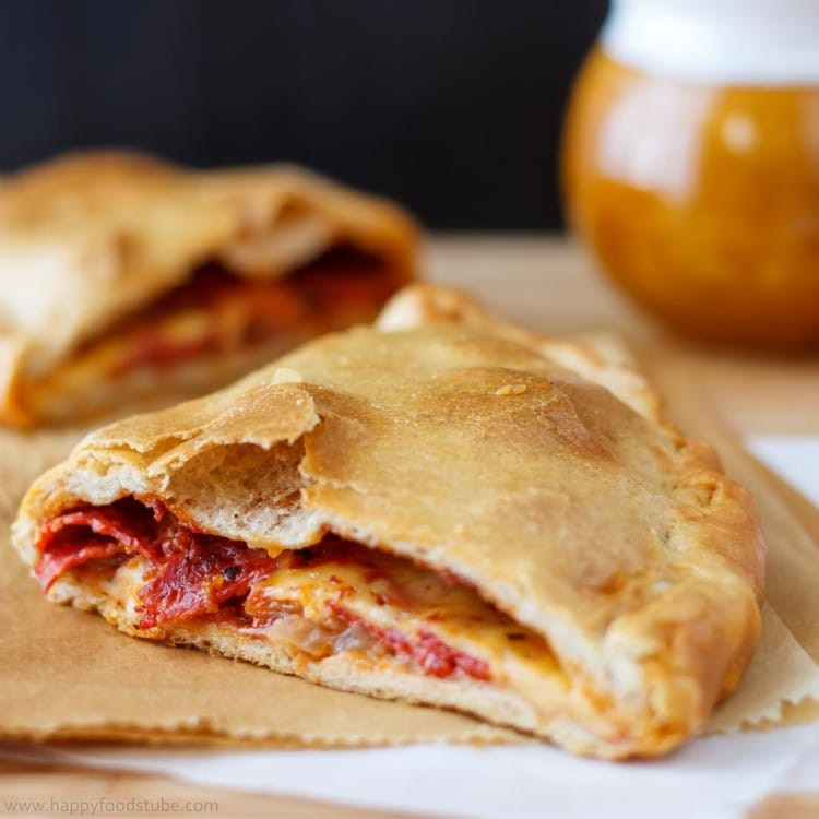Calzone Recipe With Pizza Dough  Easy Calzone Pizza Recipe Happy Foods Tube
