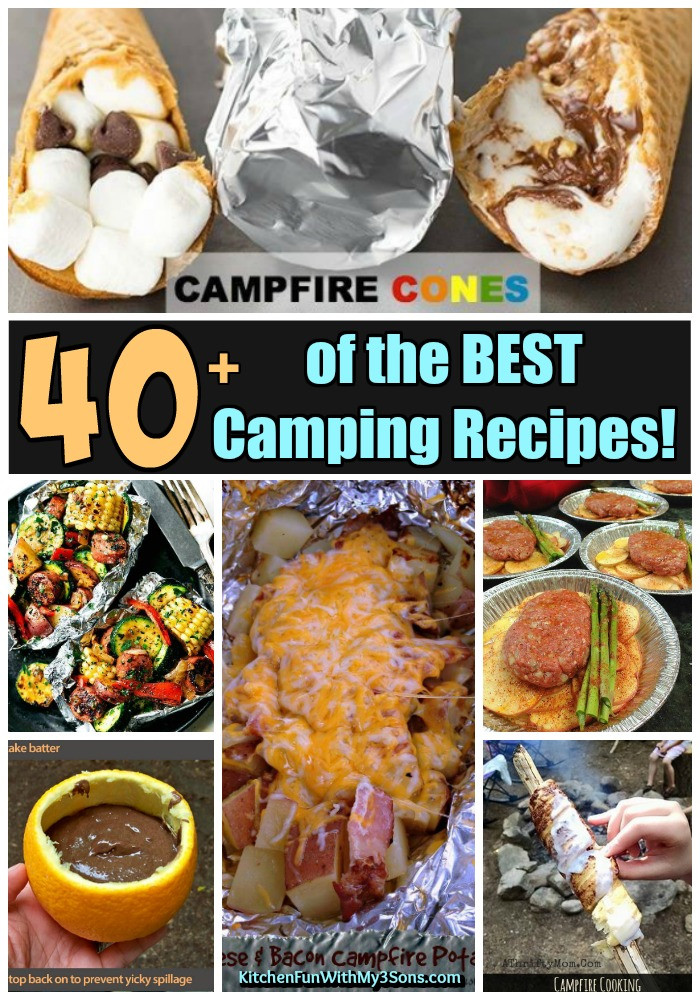Camp Dinner Ideas  40 of the BEST Camping Recipes Kitchen Fun With My 3 Sons