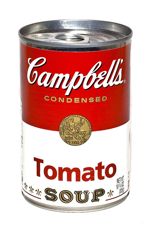 Campbell Tomato Soup  I love it when you ask actors What are by Andy Warhol