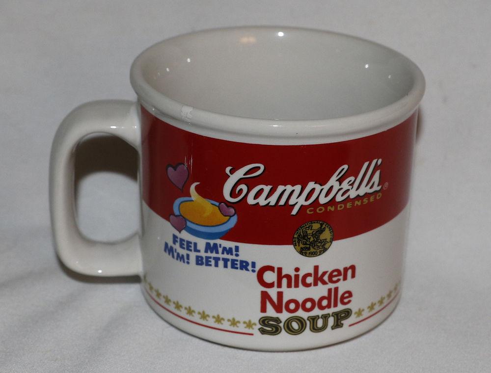 Campbell'S Chicken Noodle Soup  Vintage Campbell s Soup Mug Chicken Noodle 1997