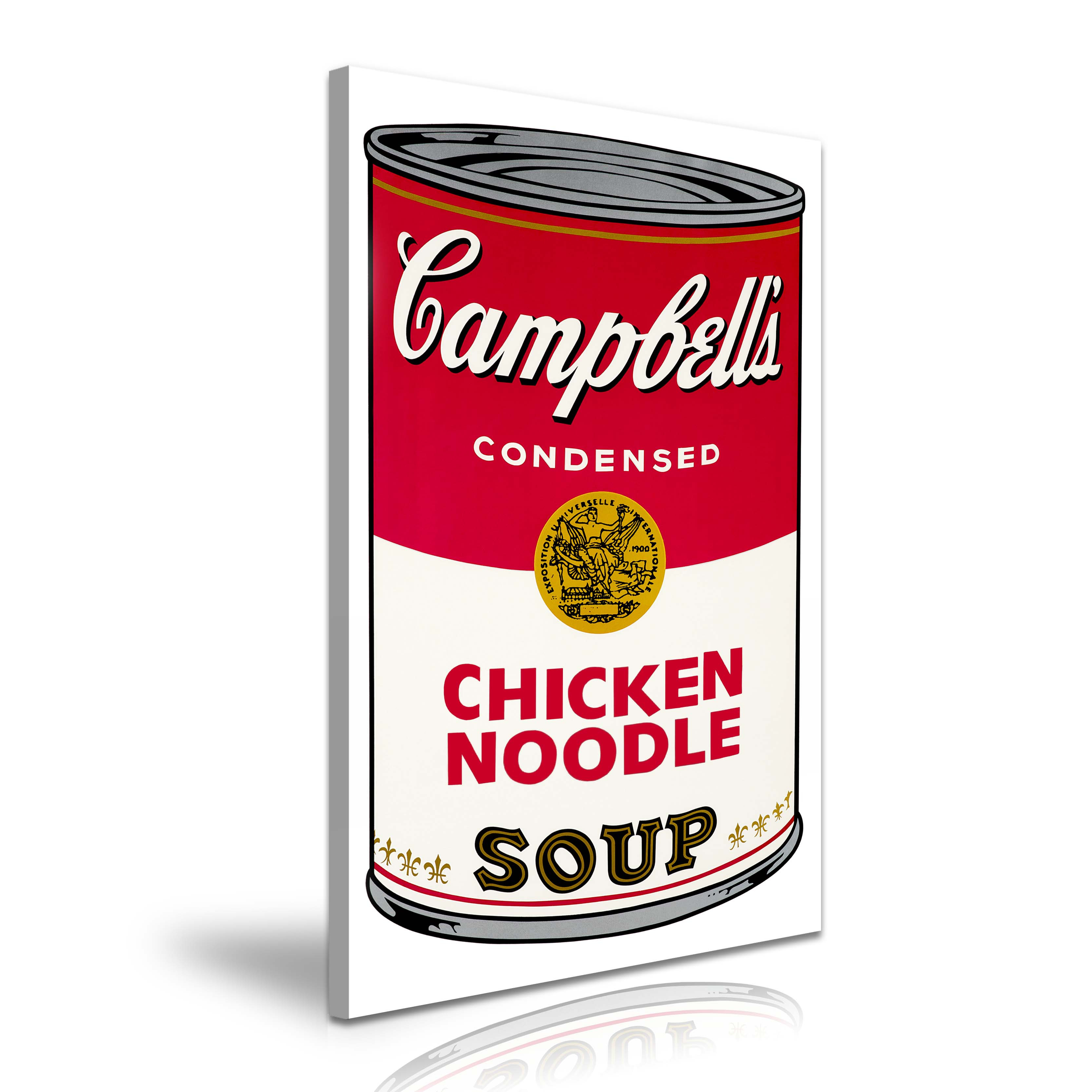 Campbell'S Chicken Noodle Soup  CAMPBELL S CHICKEN NOODLE SOUP Andy Warhol Canvas Framed