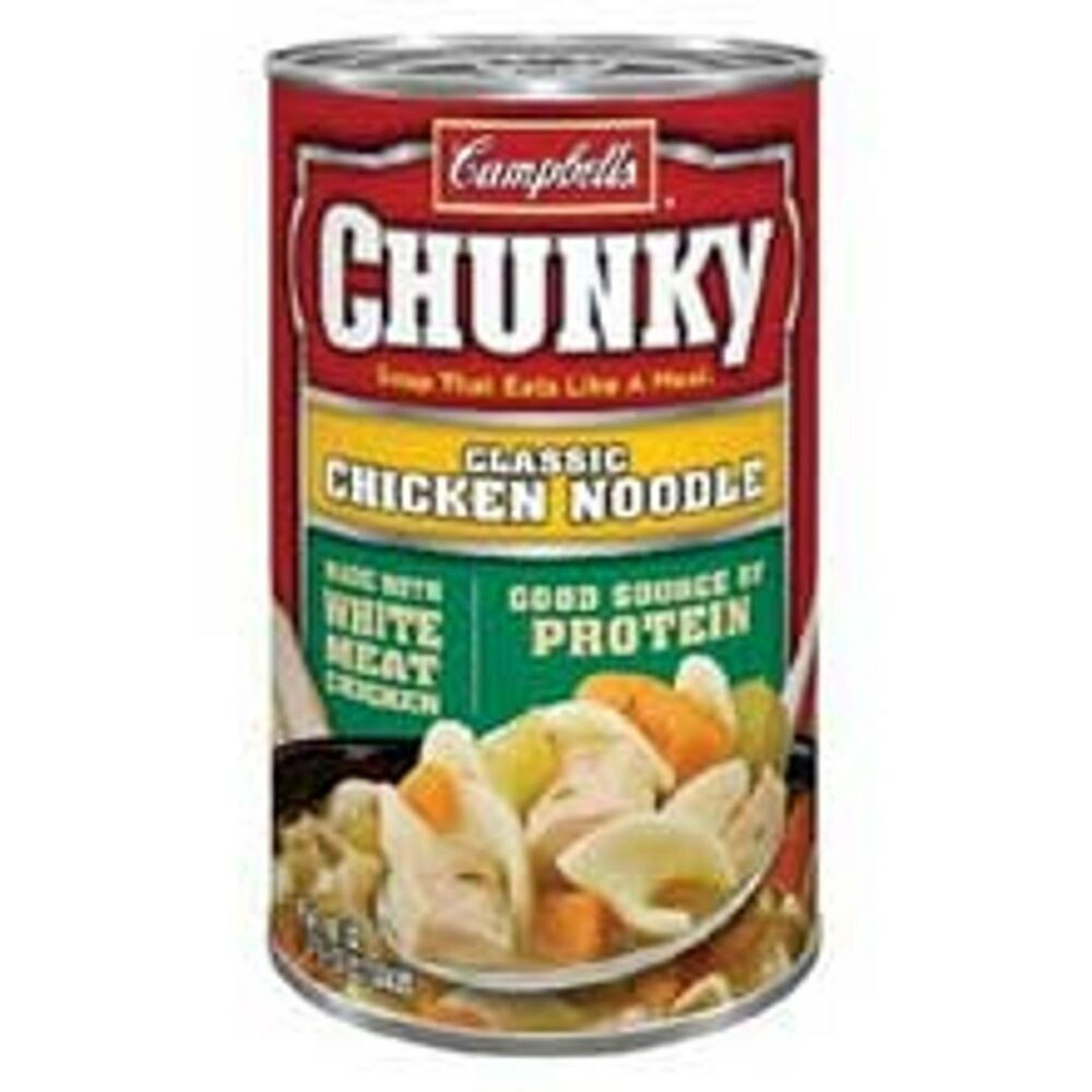 Campbell'S Chicken Noodle Soup  Campbell s Chunky Classic Chicken Noodle Soup 18 8oz Can