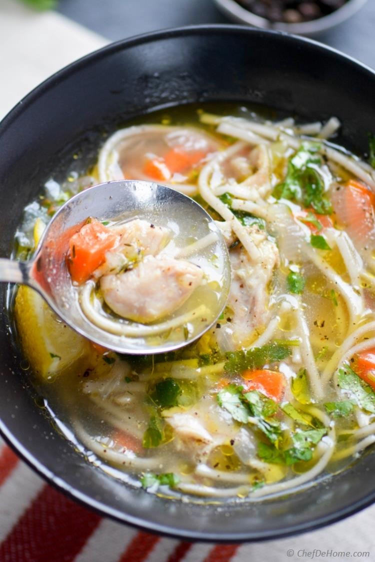 Campbell'S Chicken Noodle Soup  Chicken Noodle Soup in Pressure Cooker Recipe