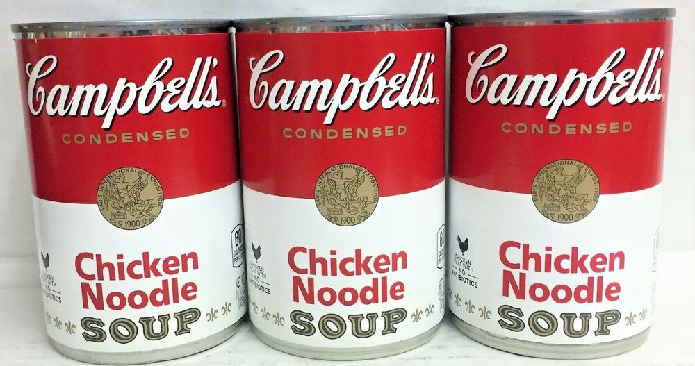 Campbell'S Chicken Noodle Soup  Campbell s Condensed Chicken Noodle Soup 10 75 oz 3 Cans