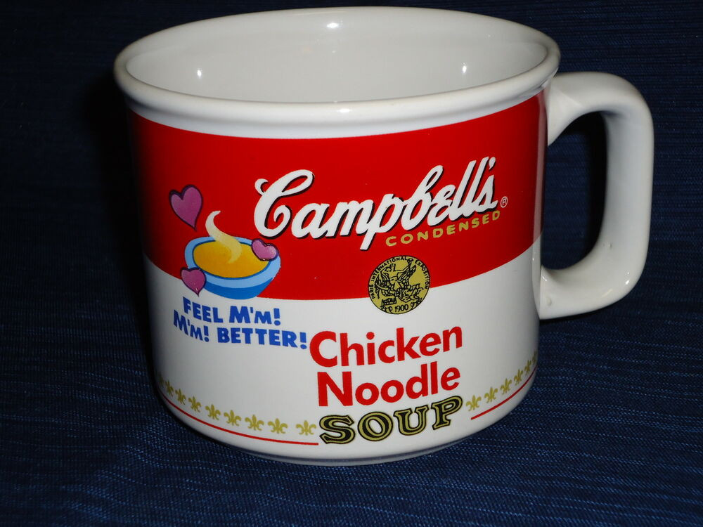 Campbell'S Chicken Noodle Soup  CAMPBELL S CHICKEN NOODLE SOUP ceramic MUG 1997 by West