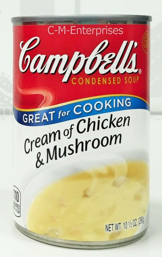 Campbell'S Cream Of Chicken Soup  Campbell s Cream of Chicken & Mushroom Condensed Soup 10 5