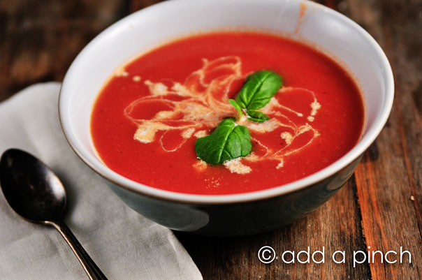 Campbell'S Tomato Soup Ingredients  Tomato Soup Recipe Cooking Add a Pinch