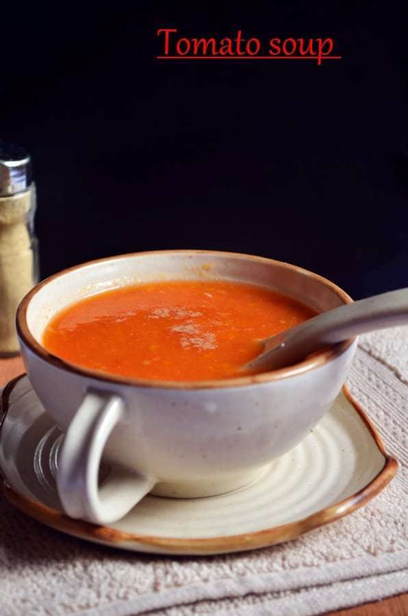 Campbell'S Tomato Soup Ingredients  Tomato soup recipe