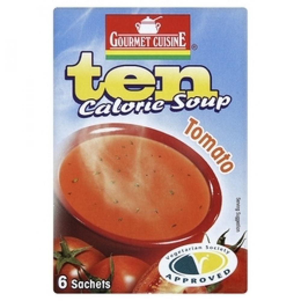 Campbell'S Tomato Soup Nutrition  Gourmet Cuisine Ten Calorie Tomato Soup 6 Sachets 33g