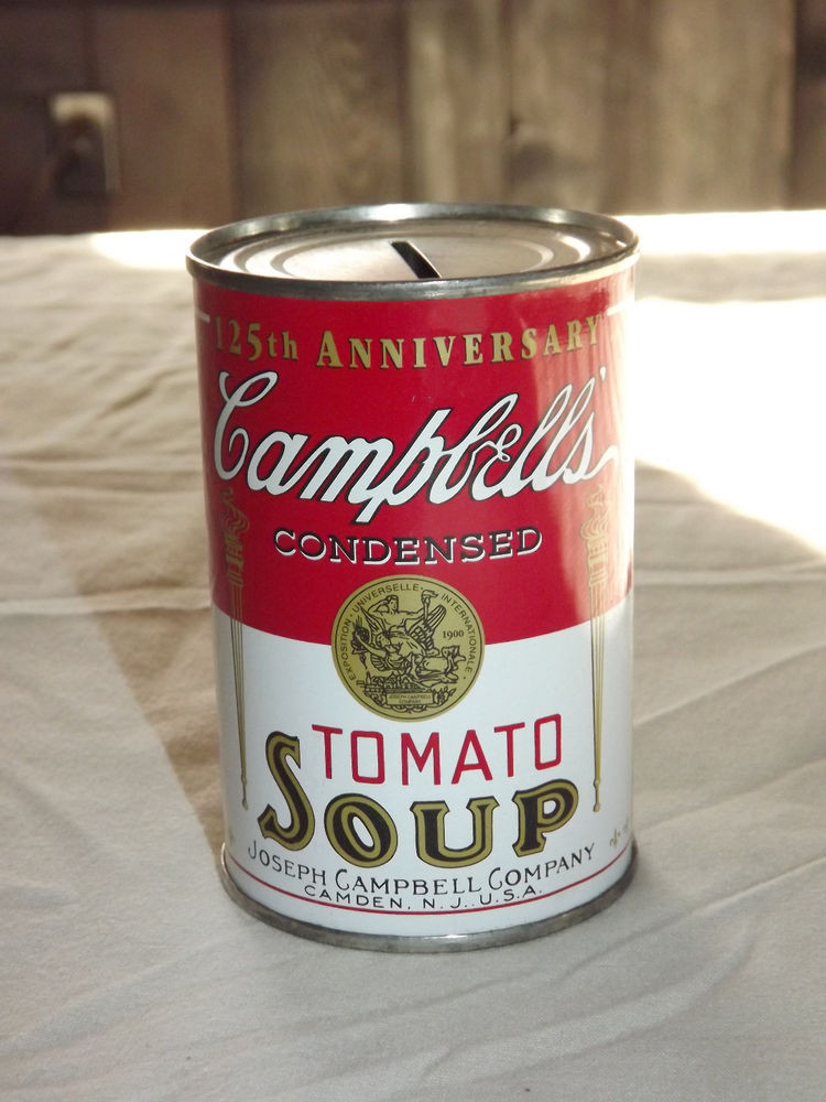 Campbell'S Tomato Soup Nutrition  VINTAGE CAMPBELL S TOMATO SOUP 125TH ANNIVERSARY CAN TIN