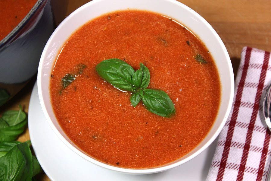 Campbell'S Tomato Soup Recipes  Creamy Tomato Basil Soup Don t Sweat The Recipe