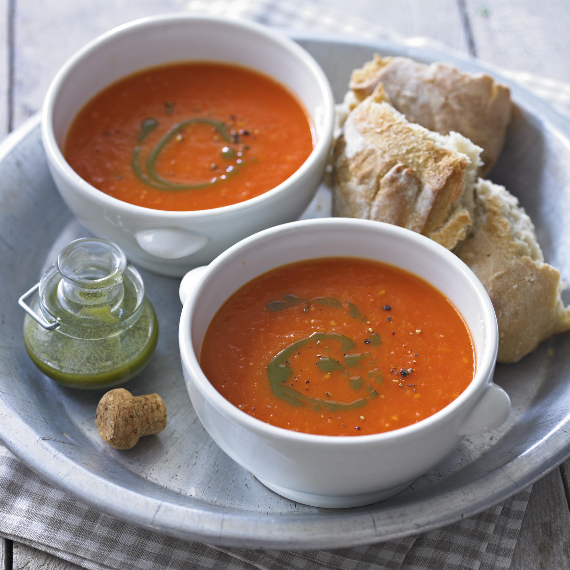 Campbell'S Tomato Soup Recipes  Tomato Soup With Basil Oil Recipe