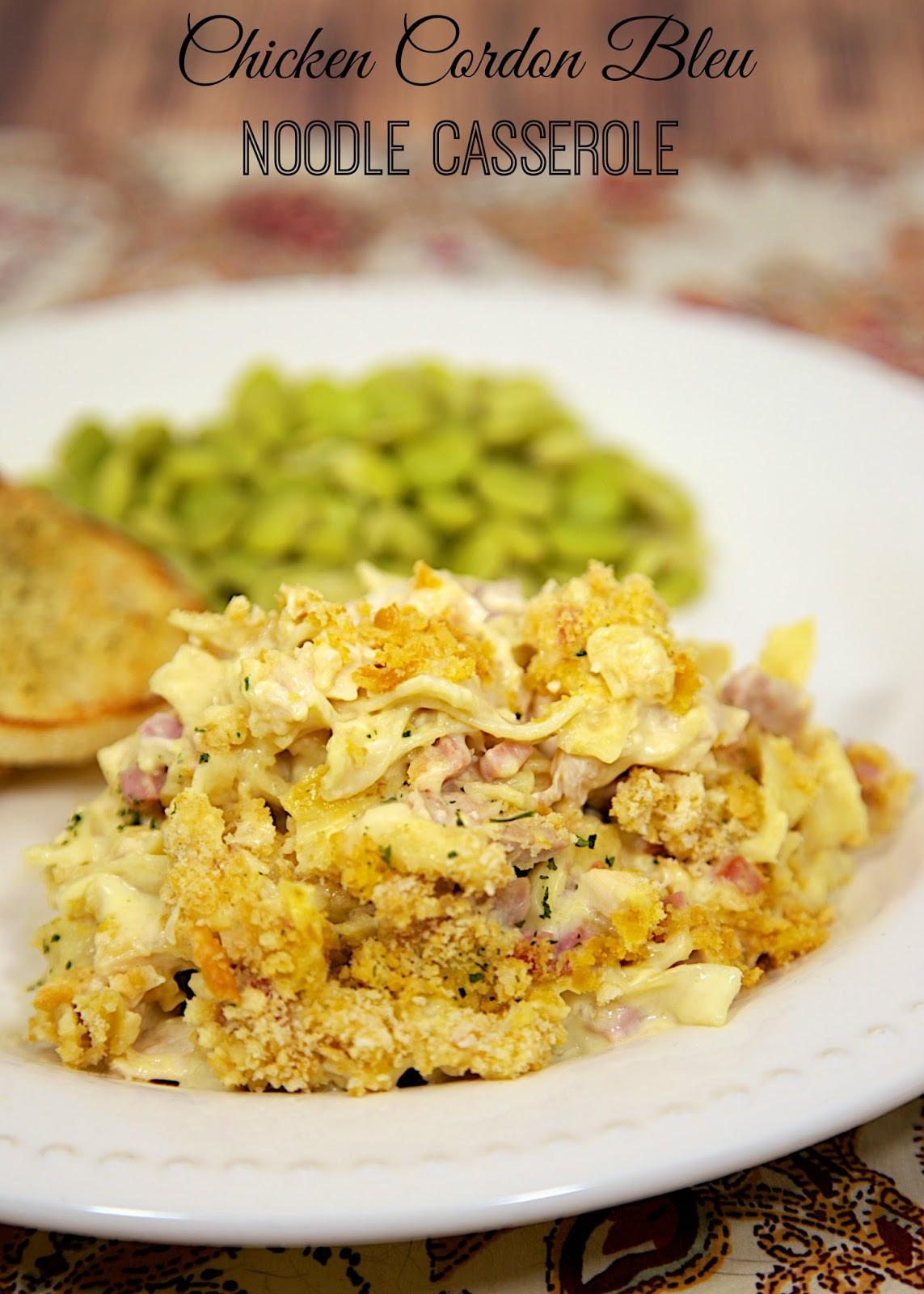 Campbells Chicken Casserole  campbells chicken cordon bleu casserole