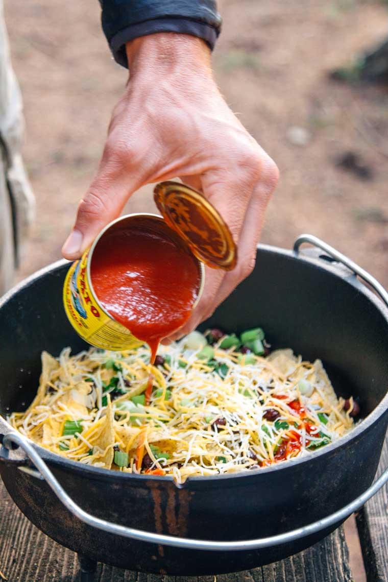 Campfire Dinner Recipes  How to Make Campfire Nachos