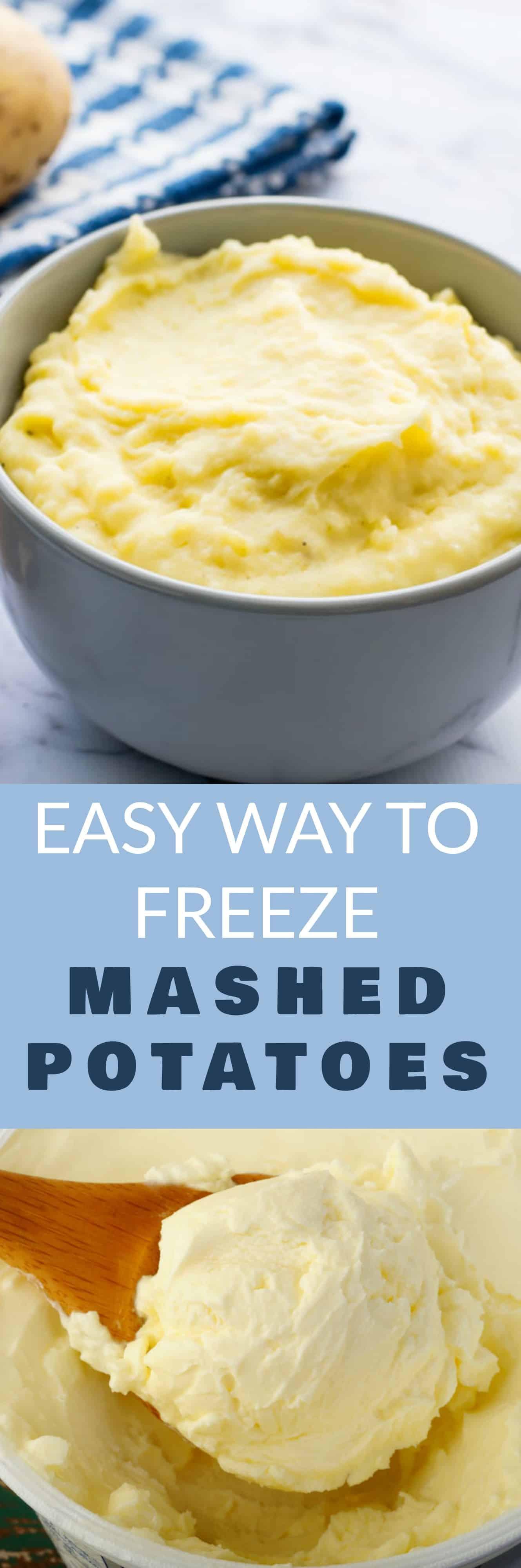 Can I Freeze Mashed Potatoes  Easy Way to Freeze Mashed Potatoes Brooklyn Farm Girl
