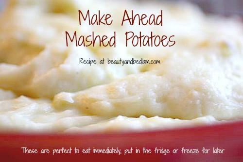 Can I Freeze Mashed Potatoes  Make Ahead Mashed Potatoes Freezer Mashed Potatoes Make
