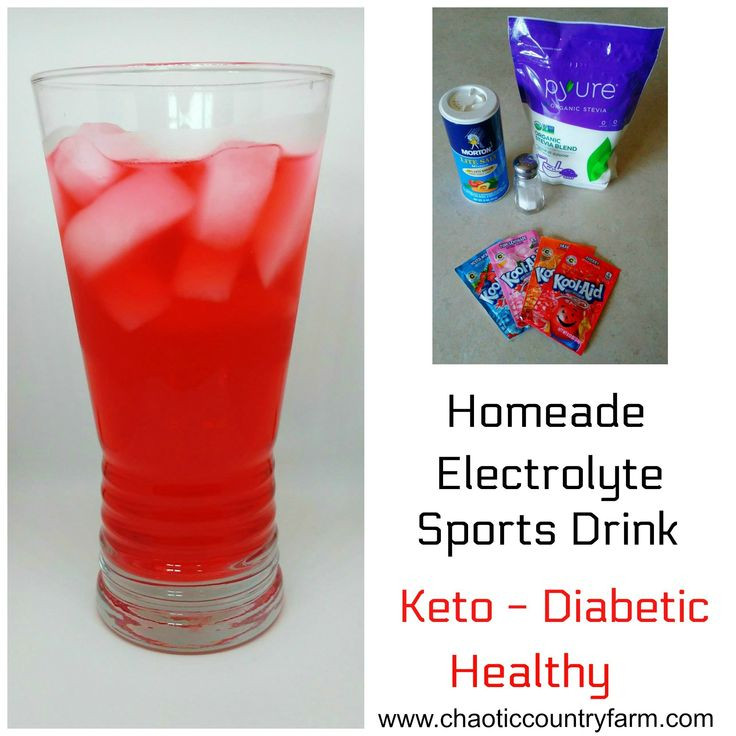 Can You Drink Diet Coke On Keto  Healthy Homemade Electrolyte Sports Drink Keto Diabetic