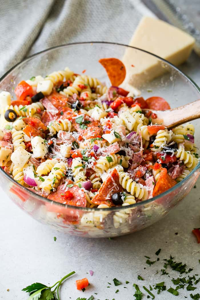 Can You Freeze Macaroni Salad  Easy Italian Pasta Salad Oh Sweet Basil