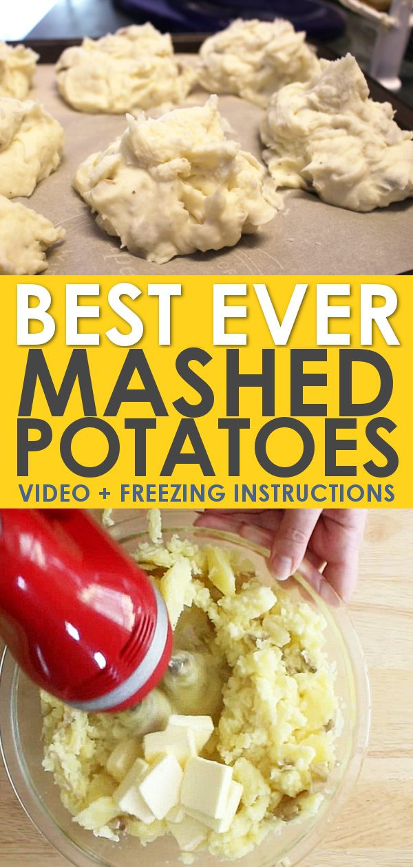Can You Freeze Mashed Potatoes  The Best Homemade Mashed Potatoes How to Freeze Them