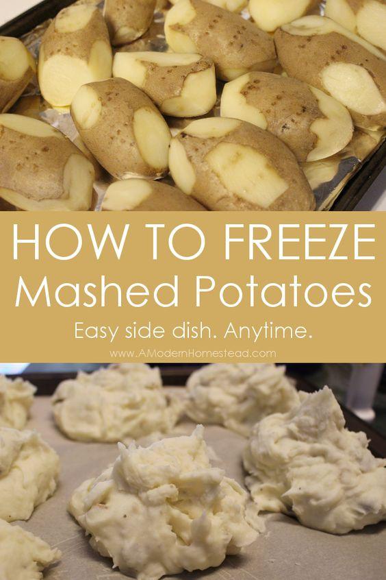 Can You Freeze Mashed Potatoes  Mashed Potatoes You Can FREEZE Recipe