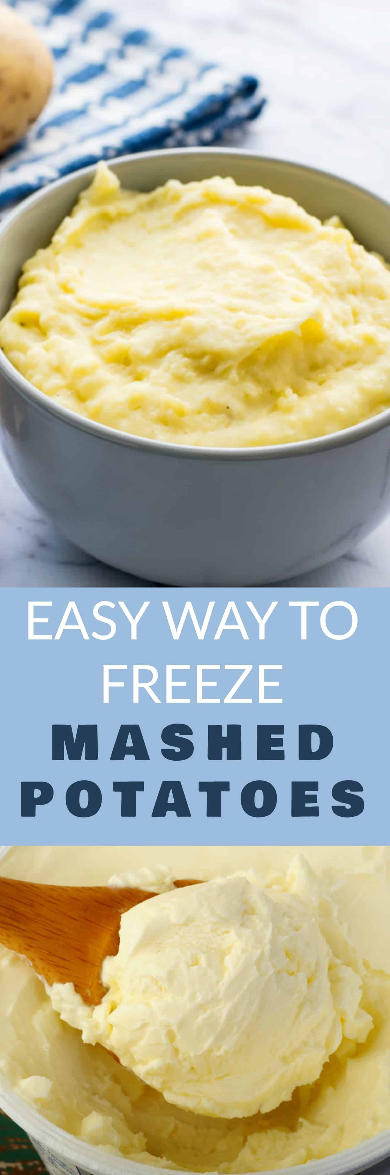 Can You Freeze Mashed Potatoes  Easy Way to Freeze Mashed Potatoes Brooklyn Farm Girl