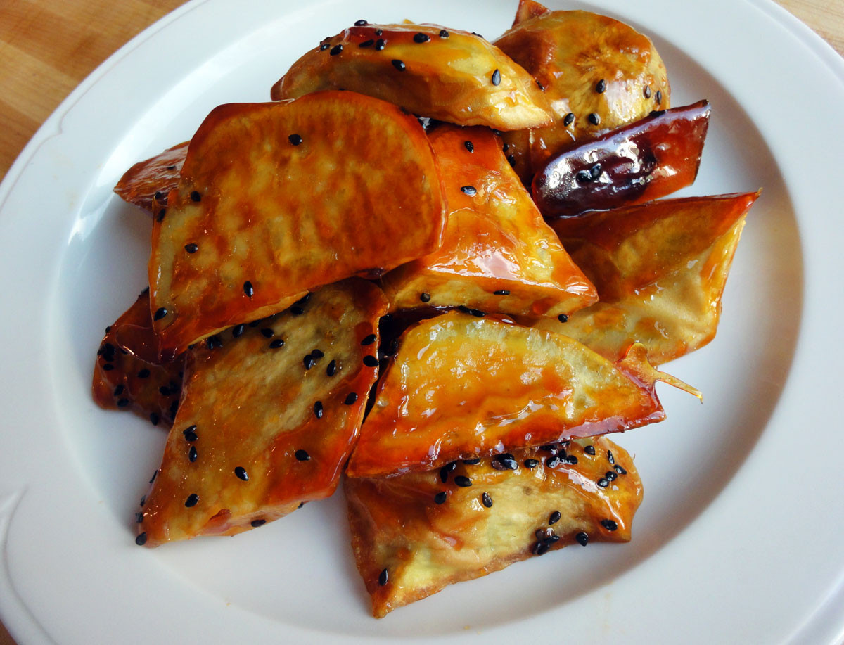 Candied Sweet Potato  Can d sweet potato Matang recipe Maangchi