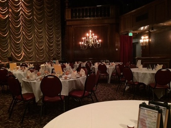 Candlelight Dinner Theatre  Enjoying incredible wine and salmon cheesecake spread with